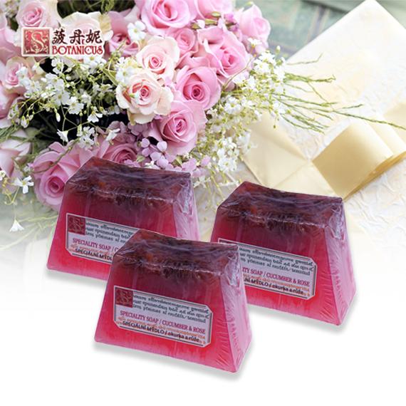 玫瑰&小黃瓜手工皂 125g