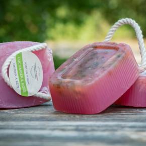 玫瑰&小黃瓜手工皂 190g 三個